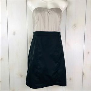 Taupe & Black Strapless Sheath Party Dress H&M